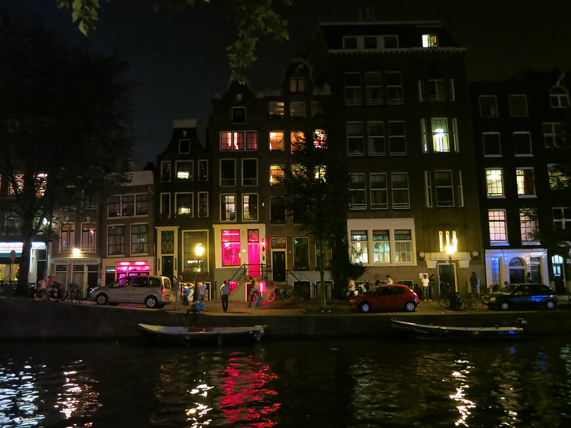 Amsterdam red light district.