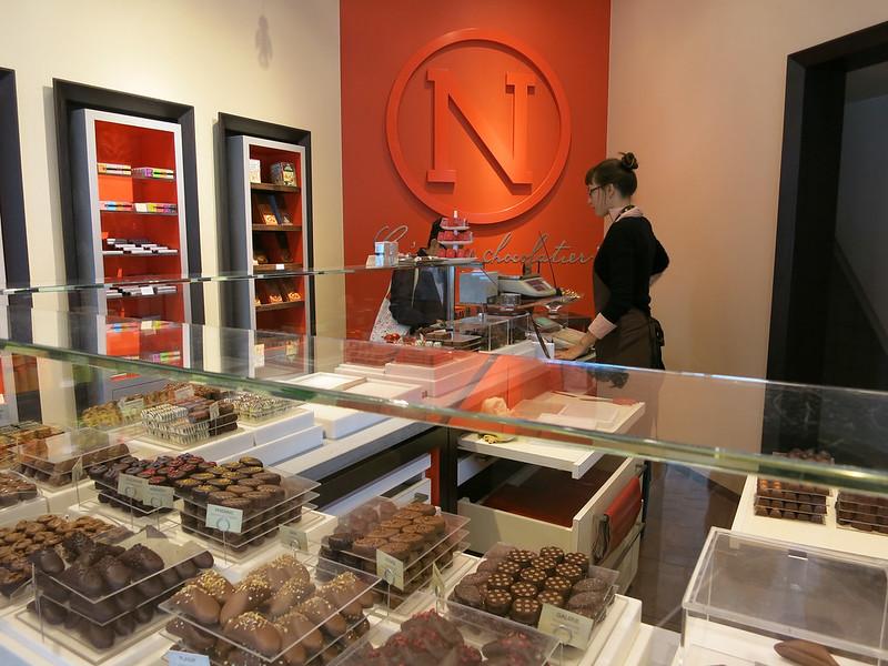 Chocolate tasting at Neuhaus.