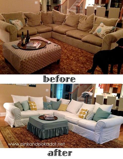 sectional sofa white slipcover