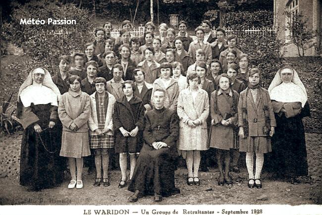 photo de groupe dans la fraîcheur de fin septembre 1928 météopassion