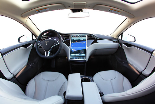 tesla model s interior fisheye a photo on flickriver. Black Bedroom Furniture Sets. Home Design Ideas