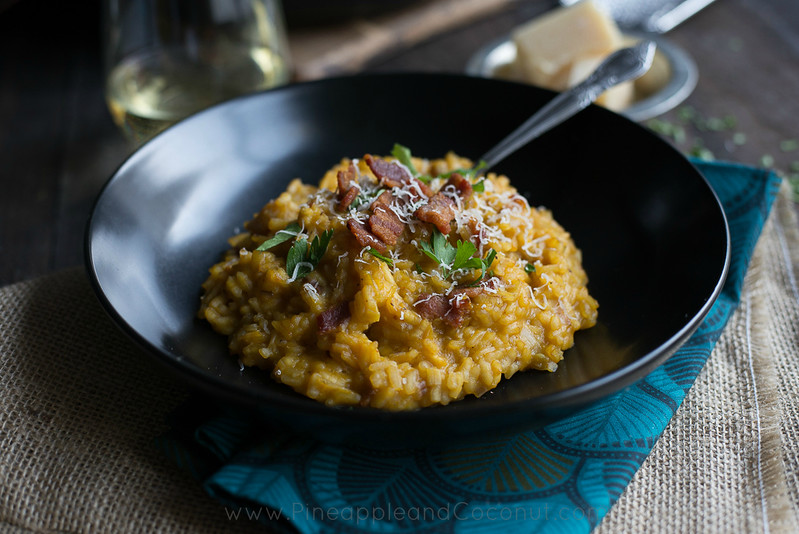 10049340893 39d3a355c6 c Creamy Maple Bacon Pumpkin Risotto #PumpkinWeek