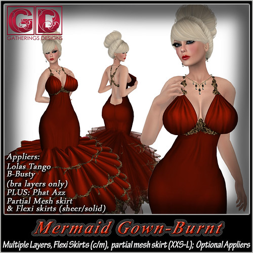 GD Mermaid Gown Burnt by Stacia Zabaleta