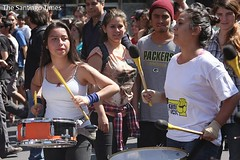musician, event, crowd, block party, drum,