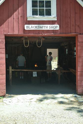 The Blacksmith Shop at Plumas Eureka State Park in Johnsville, California.
