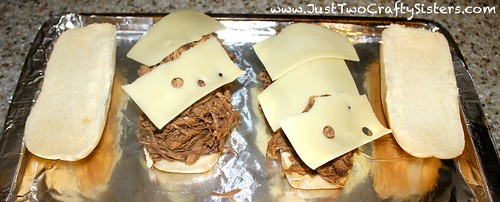 Melty french dip sandwiches