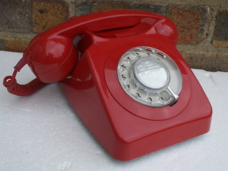Retro GPO 746 Dial Telephone Bright Red 1970's £5 Car Boot Sale Find Summer 2013