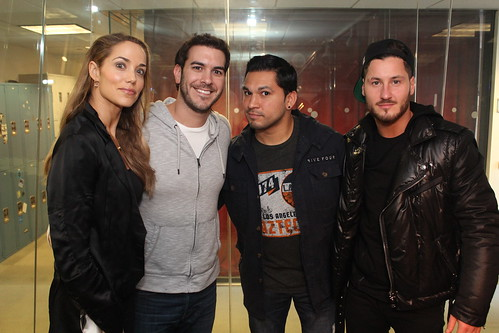 Elizabeth Berkley and Val Chmerkovskiy on the Covino & Rich Show