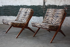 Hypnotic Folke Ohlsson Swedish Mid Century Modern Scissor Lounge Chairs For Dux (Sweden, 1960s)