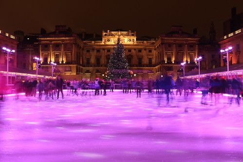 Ice Rink and skaters