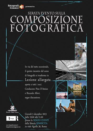 Serata evento 'Composizione fotografica' alla libreria Rinascita - 5 dicembre