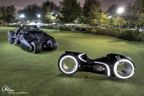 The Tron Lightcycle and The BatmanTumbler by Savage Land Pictures
