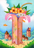 Building illustration - Tower of flower