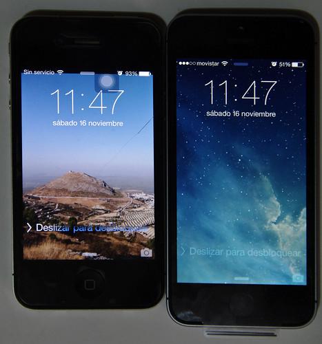 iPhone 4 y 5S