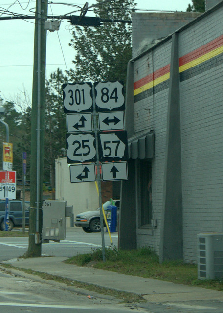 At the major intersection in Ludowici