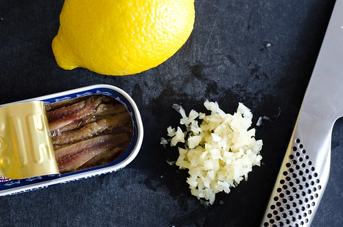 garlicky anchovy lemon base