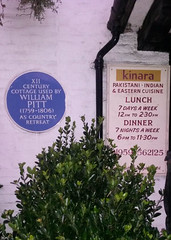 Photo of William Pitt blue plaque