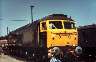 85-413  Class 47/5 No. 47-500 'Great Western' at the 1985 Reading Open Day