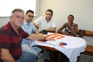 Pré-candidatos, Toninho do Diabo e Daniel dos Quadrinhos visitam o Solidariedade-SP