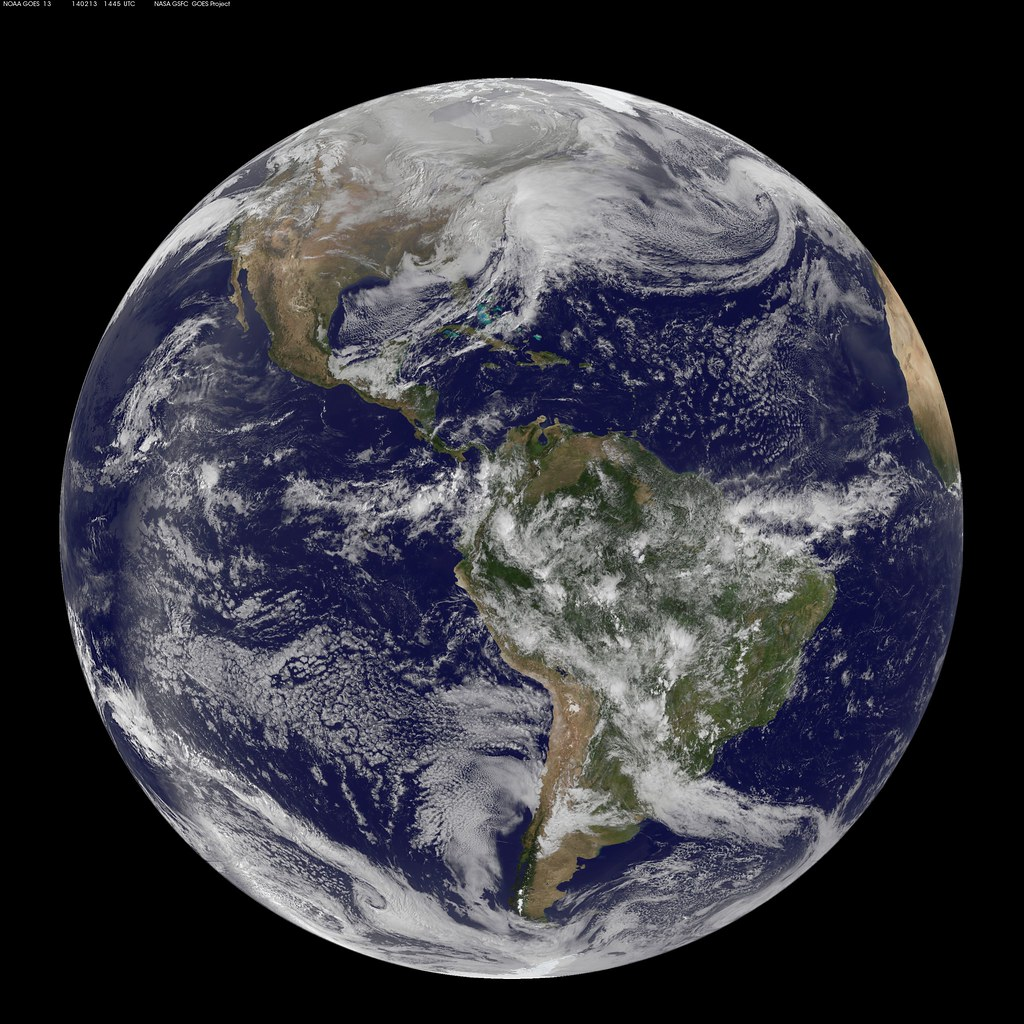 Earth From Space Powerful Winter Storm Pax 2014 By NASA