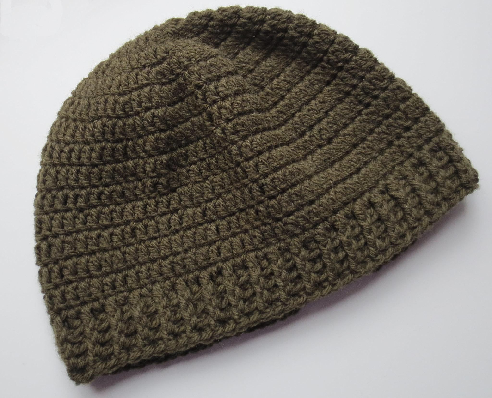 Crocheted Ribbed Hat Pattern  b7bedebf782