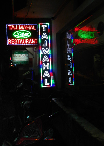 the Taj Mahal Cafe in HCMC, Vietnam