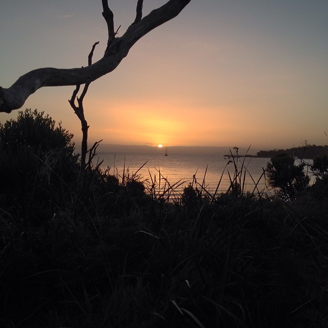 Sunset at Freycinet #tasmania #camping #instatassie