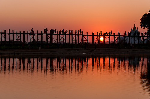 ngc silhouettes pont myanmar asie birmanie pontenteck