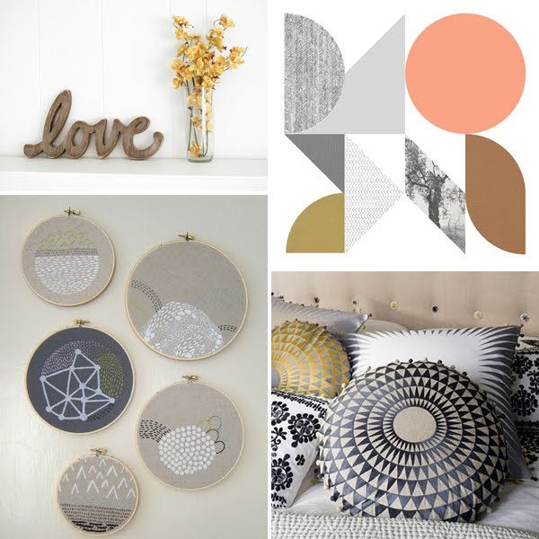 colour pinning : grey and gold | Emma Lamb