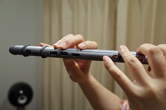 musical instrument(0.0), flute(1.0), hand(1.0), western concert flute(1.0),