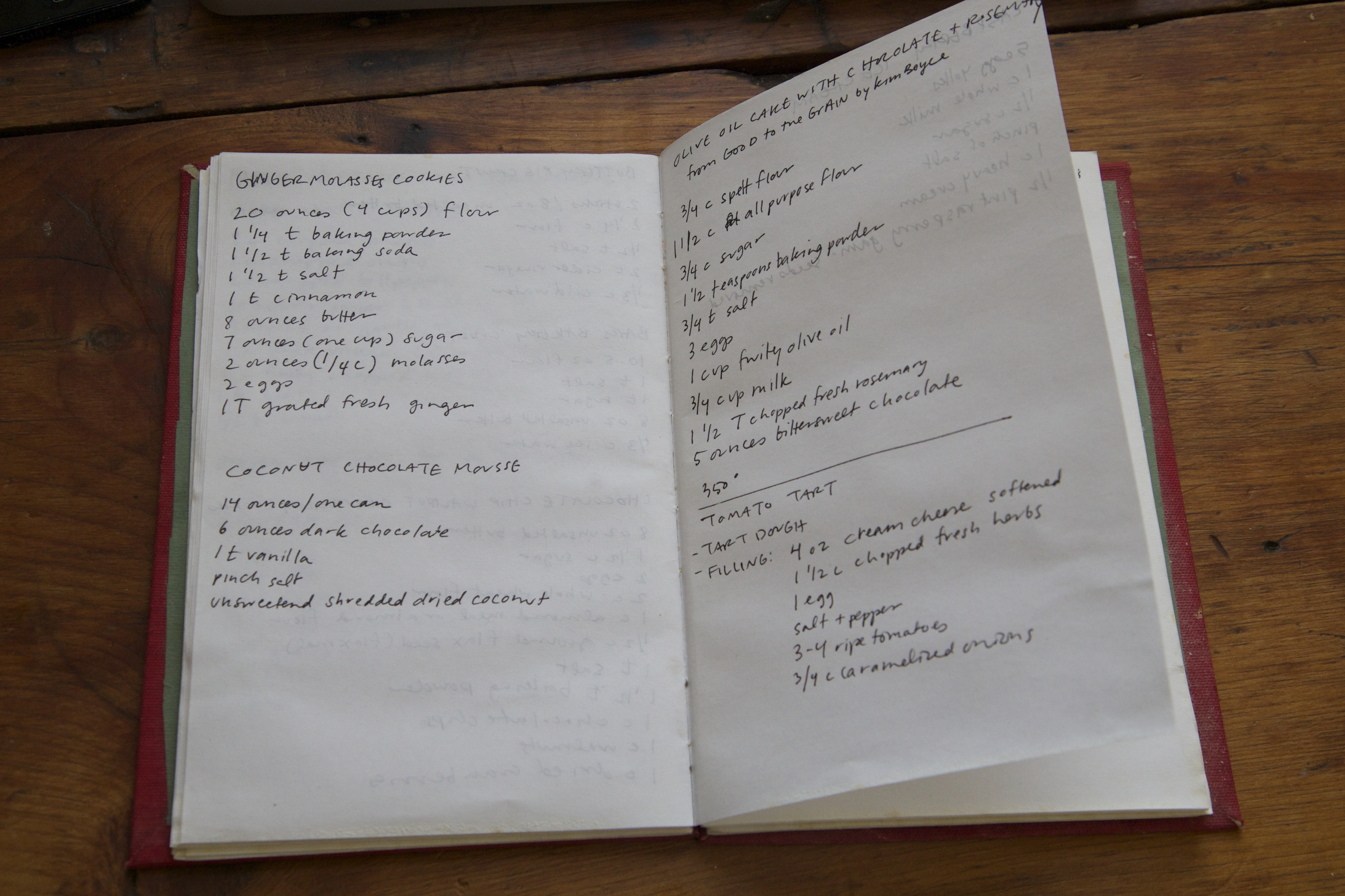 recipe notebook