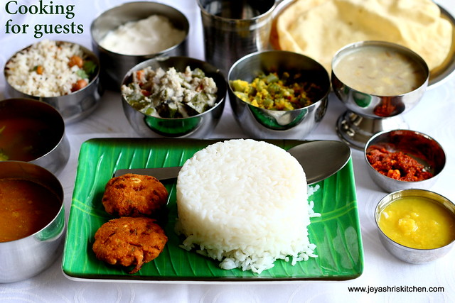 Traditional tamilnadu meals