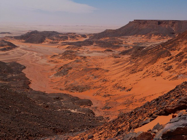 Vistas desde el Samir Lama Point (Gilf Kebir, Egipto)