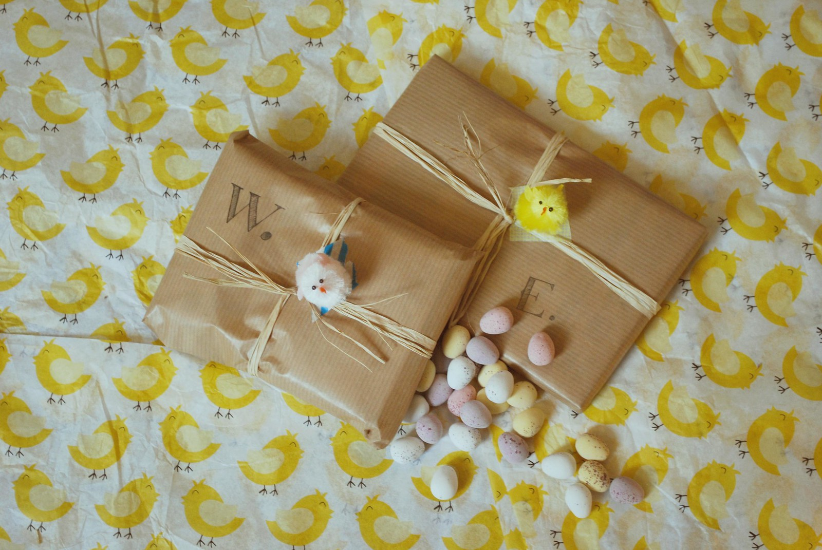 Pretty easter gift wrapping