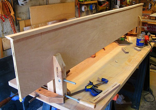 Attaching the Oak Trim