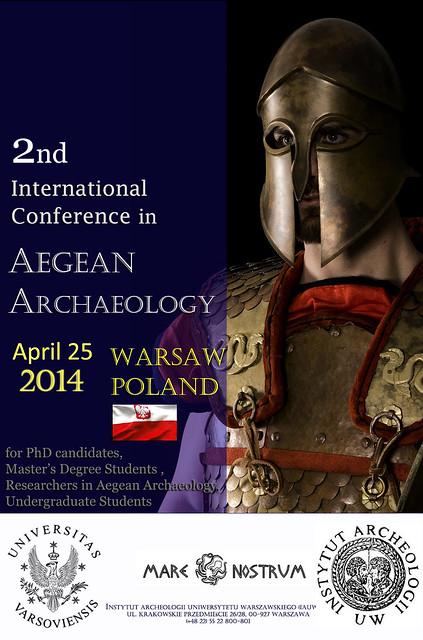 Συμμετοχή στο 2ο Συνέδριο Αιγαιακής Αρχαιολογίας του Πανεπιστημίου της Βαρσοβίας, 25 Απριλίου 2014