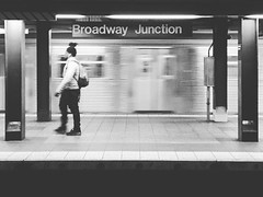 #subway #newyork #newyorksubway #brooklyn #trains #train #Bushwick #broadwayjunction #blackandwhite #subwaypeople #subwayphotography #transit