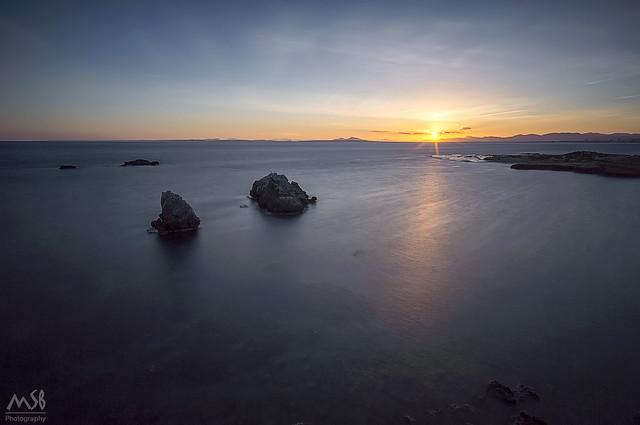 Atardecer en la Isla de Tabarca. Abril 2017_1