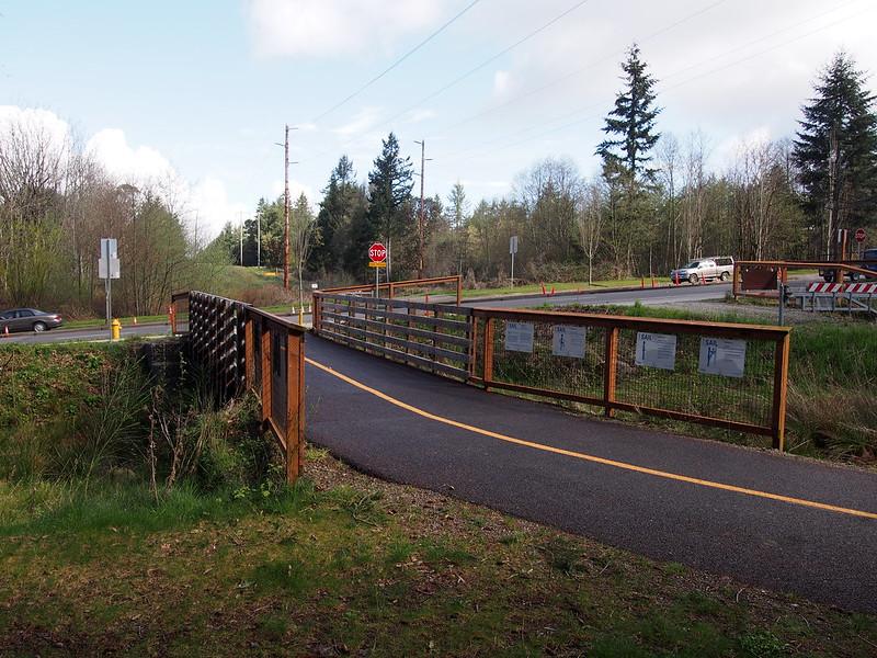 Cushman Powerline Trail: The most recent segment.