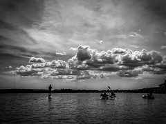 Paddling to Clouds (B&W1)