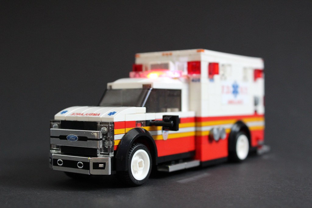 FDNY Ambulance (custom built Lego model)