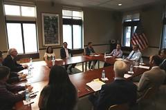 Ambassador Heidt hosts U.S. State Representative Rady Mom for a roundtable discussion at the U.S. Embassy Phnom Penh.
