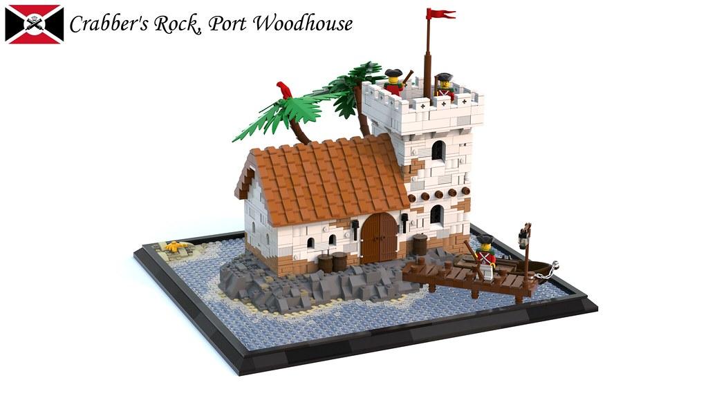 Crabber's Rock – High Tide (custom built Lego model)