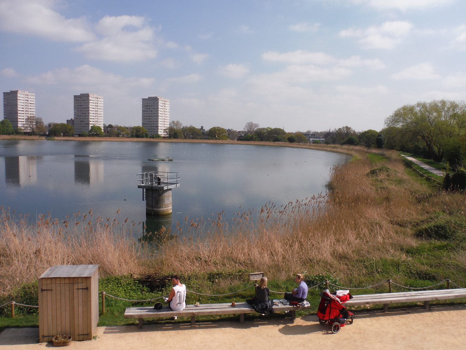View from roof of Coal House (I), Woodberry Wetlands SWC Short Walk 26 - Woodberry Wetlands (Stoke Newington Reservoirs)