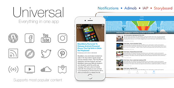 Universal for IOS v3.0.1 - Full Multi-Purpose IOS app