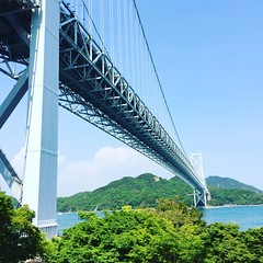 因島大橋.これから尾道駅へ.