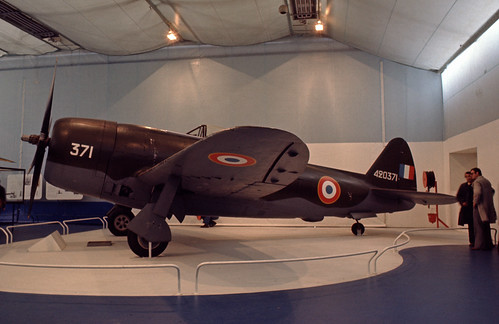 Republic P-47D Thunderbolt at the Musée de l' Air, Le Bourget 1977