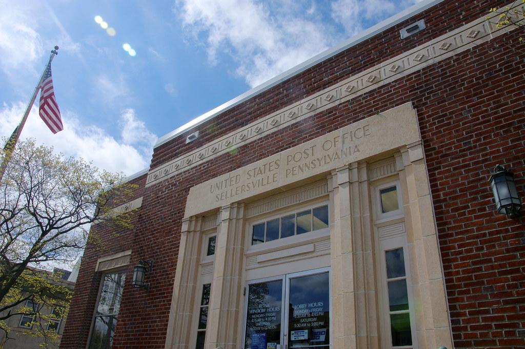 Sellersville Pennsylvania Post Office - Entrance