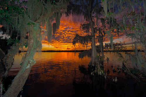 centralflorida deland florida lake water sunset reflection spanishmoss sonyphotography sony
