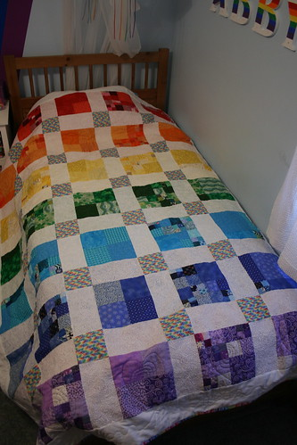 Rainbow quilt